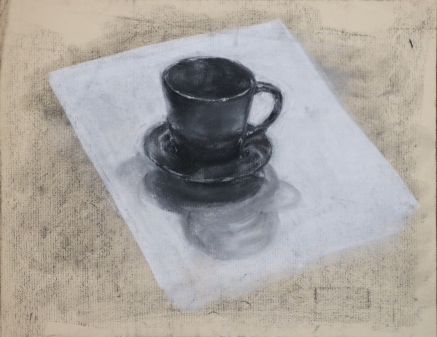 cup, charcoal on paper