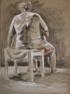 charcoal on toned paper, 2013
