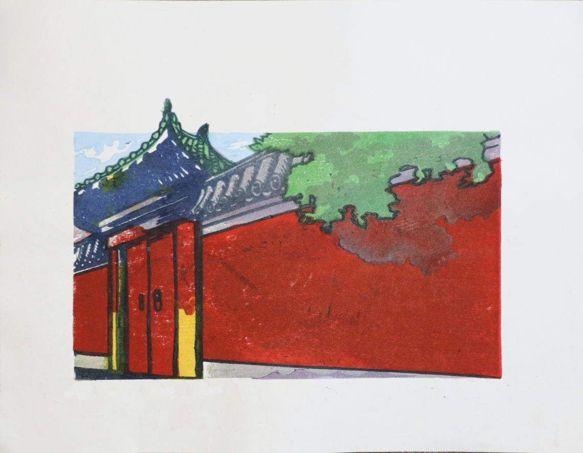 Print - Red Wall