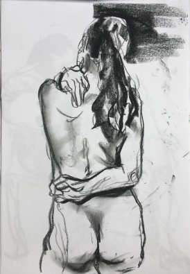 charcoal on printer paper, 2017