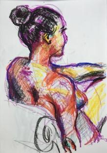 oil pastel on printer paper, 2018